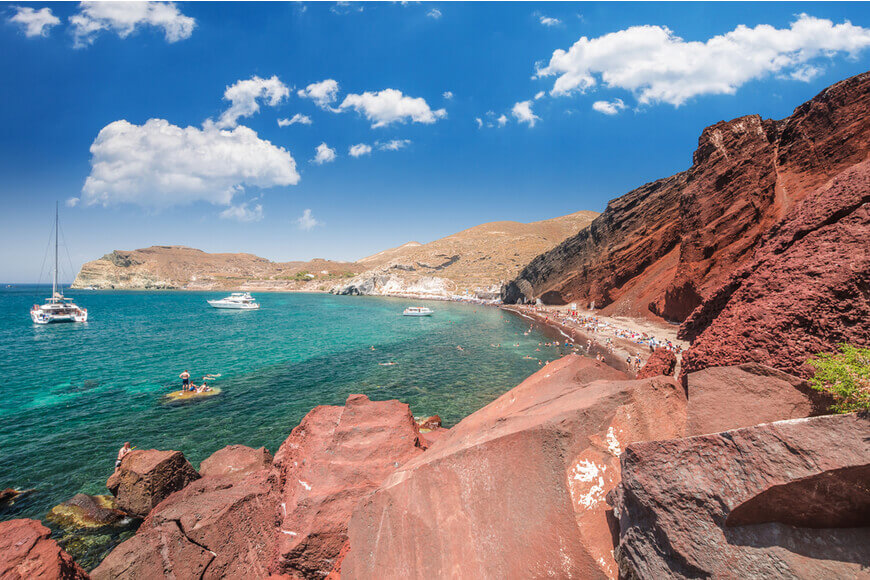 Best Beaches in Santorini The Ultimate Guide for 2019 - Red Beach - Kamari Tours Excursions