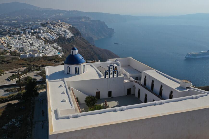 Explore the Famous Blue-Domed Churches in Santorini - Agios Nikolaos Monastery - Kamari Tours Excursions
