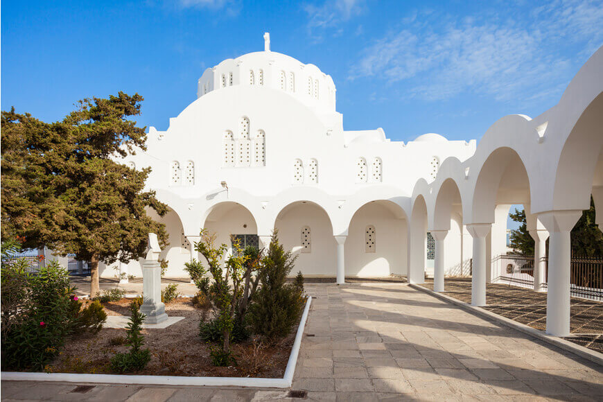 Explore the Famous Blue-Domed Churches in Santorini - Orthodox Metropolitan Cathedral- Kamari Tours Excursions
