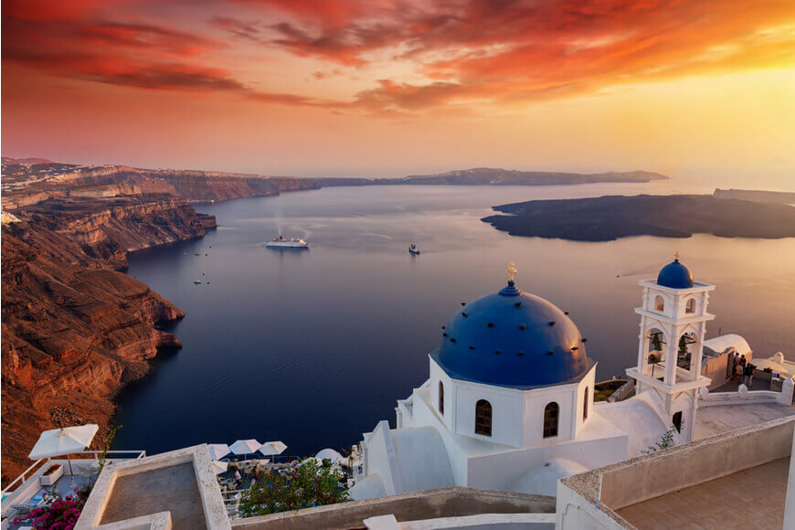 Santorini Sunset The most famous sunset in the world - Imerovigli - Kamari Tours Excursions