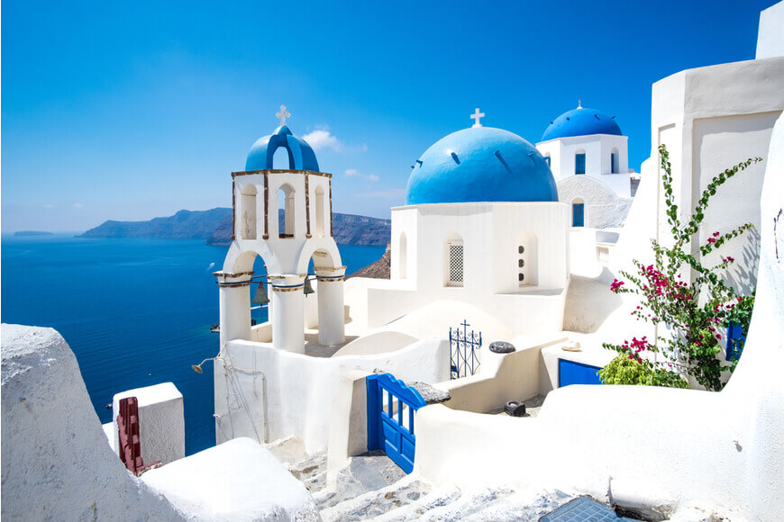 Oia - Blue Domes - Kamari Tours Excursions