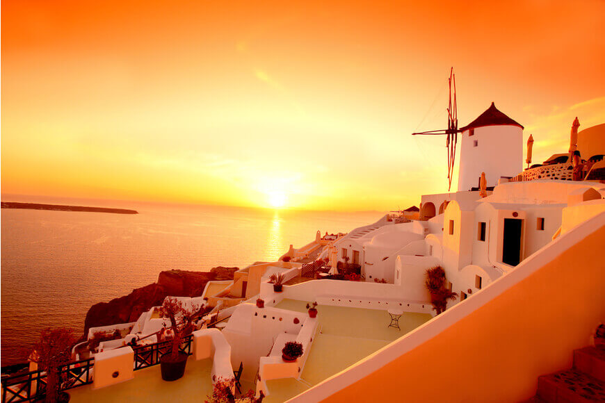 Oia - Sunset - Kamari Tours Excursions