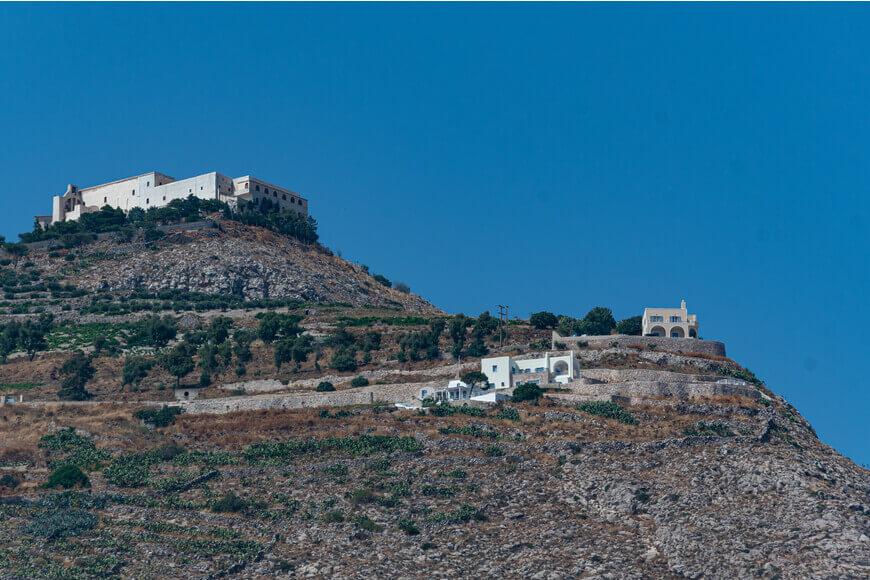 Prophet Elias Monastery - Monastery View - Kamari Tours Excursions