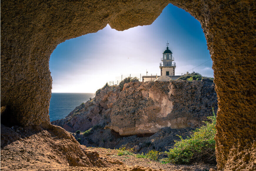 The Lighthouse of Akrotiri - Akrotiri Location - Kamari Tours Excursions